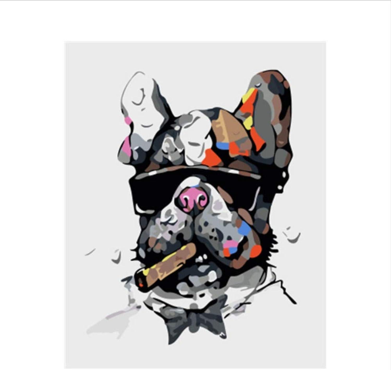 CZYYOU Bild Hund DIY Malen Nach Zahlen Zahlen Zahlen Bunte Bild Home Decor Für Wohnzimmer Hand Einzigartige Geschenke 40x50cm-Mit Rahmen B07PNHJJNS | Modernes Design  8caeee