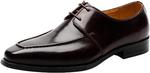 Lxmhz Hauteur Croissante des des des Chaussures pour Hommes en Cuir à Lacets, Chaussures habillées en Cuir Oxford avec zxcvfds léger,2,46 21e
