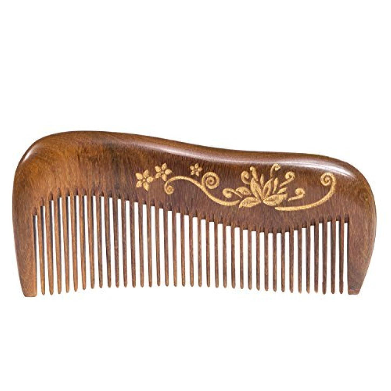 迷信宣言する混雑Breezelike Wooden Hair Comb - Fine Tooth Wood Comb for Women - No Static Natural Detangling Sandalwood Comb [並行輸入品]