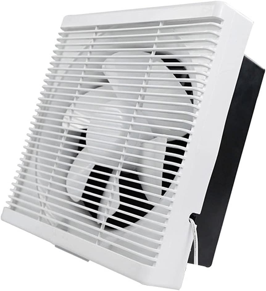 LITING Ventilador de ventilación doméstico Ventilador De Ventilación Bidireccional Potente Baño Silencioso De 12 Pulgadas Ventilador De Escape para El Hogar