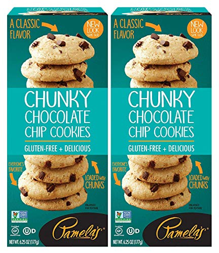 Pamela's Chunky Chocolate Chip Traditional Cookies, 6.25 OZ, Pack of 2