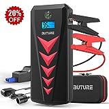 BuTure Booster Batterie, 2000A 22000mAh Portable Jump Starter, Démarrage de Voiture (Jusqu'à 8.0L Essence 8.0L Gazole), Charge Inverse et Inversion de polarité, Lamp LED, Écran LCD