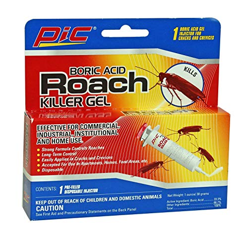 PIC Roach Killer Gel, 1 oz, 3 Pack - 6 Tubes Total