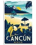 AZSTEEL Vintage Travel Cancun | Poster No Frame Board for