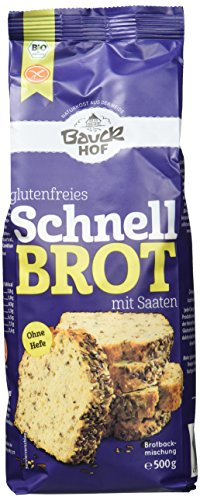 Bauckhof Schnellbrot glutenfrei, 6er Pack (6 x 500 g) - Bio