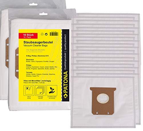 20x Bolsas de aspiradora para Electrolux E15 | E18 | E40 | E54a | E200 | E202 | E203 | E205 | S-Bag, Bolidio Z 4500...4595, Clario Z1900...1995, Clario Z2025...2050, Ergospace, Excellio Z5000...5295 - Mondo Z6200, Z6201, Oxy3 System Serie, Oxygen Z 5500...5695, Oxygen Z 5900...5995, Parketto Ergospace, SmartVac 5000...5695, Viva Control, Viva Quickstop, XXL 110, XXL 130, XXL 140, XXL 140 BOX 1, XXL 62, Z1900...2095 Clario y mucho más… [ Microfiltro, 5 capas de filtro ]