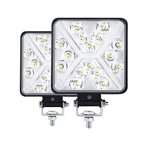MONDEVIEW Coppia 4' Fari LED Trattore 300W 12000LM 6000K Faro LED da Lavoro IP67 Barra LED Moto Fari...