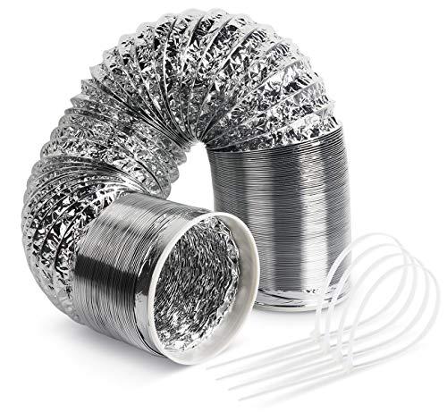 Homewit Abluftschlauch 6 Meter, Durchmesser 150mm Isolierter Aluminium Flexschlauch Lüftungsschlauch, Abluftschläuche für Klimaanlage, Abzugshaube, Wäschetrockner, Trockner, Abluftventilator usw.