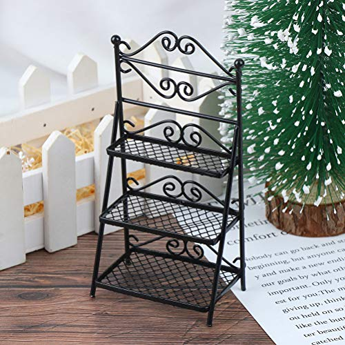 1/12 Dollhouse Miniature Rack Decoration Accessories Toys Gift for Kids Bonsai Display Rack Plant Stand Model Decor Miniature Furniture Accessories DIY Ornament Toys