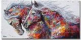 ADXZ Abstrakt Bild auf Leinwand Buntes Pferd Bild
