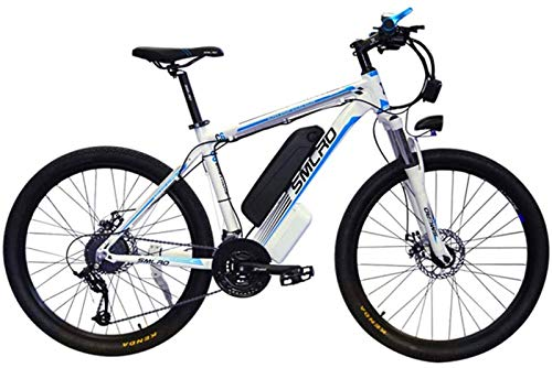 Electric Bike Electric Mountain Bike, 26'' Electric Mountain Bike Brushless Gear Motor Large Capacity (48V 350W 10Ah) 35 Miles Range And Dual Disc Brakes Alloy Electric Bicycle for the jungle trails,