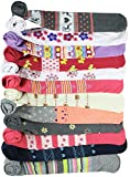 ToBeInStyle Girl's Pack of 6 Fun To Be Me Winter Tights - Large