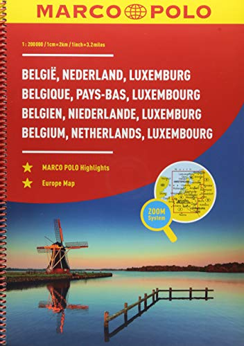 MARCO POLO Reiseatlas Benelux, Belgien, Niederlande, Luxemburg 1:200 000 (MARCO POLO Reiseatlanten)