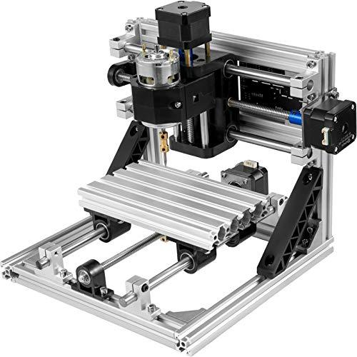 VEVOR Fresatrice Macchina per Incisore Laser 1610 Kit di Router di CNC Kit di Router di legno Controllo GRBL di base Fresatrice CNC in PVC a 3 assi PCB CNC con Controller Offline 160x100x40mm
