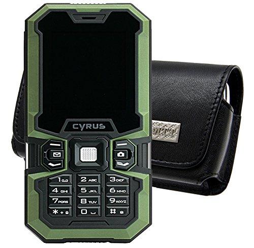 Original MTT Quertasche für / CYRUS CM5 Outdoor / Horizontal Tasche Ledertasche Handytasche Etui mit Clip & Sicherheitsschlaufe*