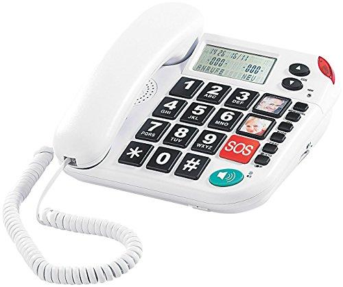 simvalley communications Notruf-Senioren-Handy XLF-80Plus mit Garantruf, weiß