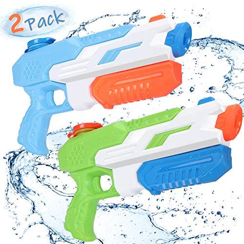 Pistola de Agua, joylink 2 Pcs 650ML Pistolas Juguetes Agua con un Alcance de 11M, Juguetes de Piscina Super Soaker Gun para Al Aire Libre, Jardín, Fiestas Juguetes de Verano para Piscina