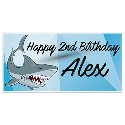 Oakland Mall Shark Birthday Party supreme Banner Personalized