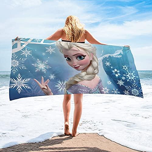 Amacigana  Toalla de playa Frozen, Anna, adecuada para viajes, playa, natación, baño, camping y picnic (A 12,70 x 140 cm)