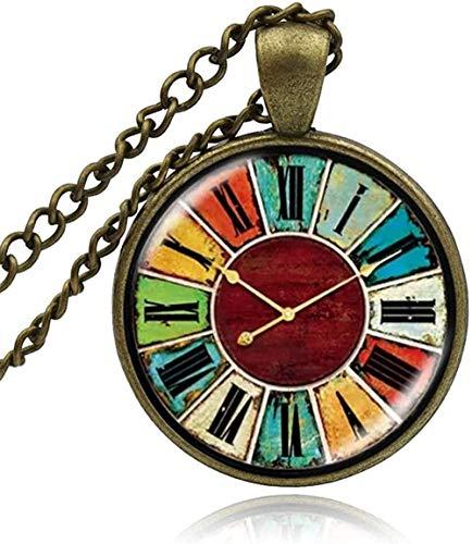 Collana Vintage Glass Owl Watch Orologio da tasca Cabochon Collana Pendente Gioielli di moda Uomo Donna Artigianato fatto a mano Collane fai da te