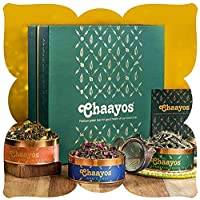 Chaayos Tea Gift Box for Holi | Perfect Festival Gift | Green Tea | Immunity Boosting Green Teas & Infuser | Wellness Gift Hamper | Holi Festival Gift Hamper, Wedding Gift, Best Green Tea