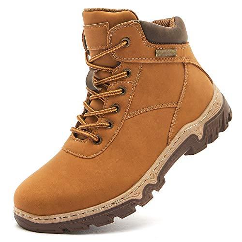 hash bubbie Women Mid Hiking Boots Outdoor Waterproof Non Slip Backpacking Trekking Walking Trails(Camel.9