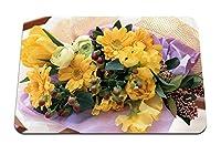 26cmx21cm マウスパッド (ガーベラチューリップバラ花花束装飾) パターンカスタムの マウスパッド
