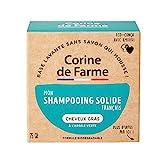 Corine de Farme | 04097301 Shampoing Solide Cheveux Gras | Vegan - Formule Argile Verte Purifiante | Shampoing Biodégradable Fabriqué en France | Eco-conçu Et Zero Déchet