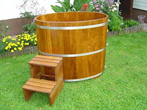 Achleitner Sauna Tauchbecken aus Kambalaholz