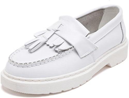 Chaussures Martin printemps Pois chaussures chaussures plates chaussures de sport simples de femme chaussures , blanc , US8   EU39   UK6   CN39  10 jours de retour