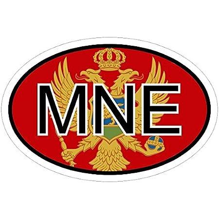 Montenegro Mne In Zwei Größen Mehrfarbig Autoaufkleber Aufkleber Kfz Flagge Auto