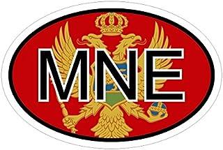 Montenegro MNE in zwei Größen mehrfarbig Autoaufkleber Aufkleber KFZ Flagge
