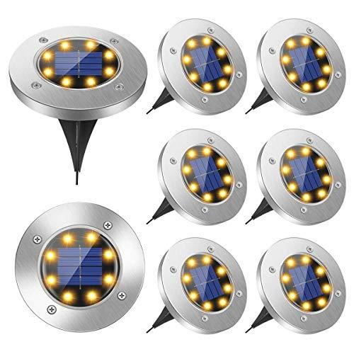 Solar Ground Lights, 8 Led Solar Garden...