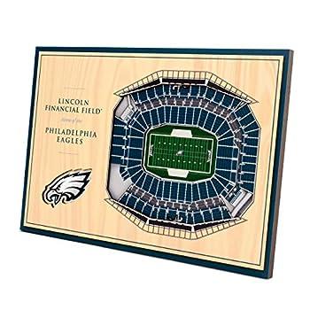 YouTheFan NFL Philadelphia Eagles Unisex Philadelphia EaglesDesktop Stadium View Wood Grain Desktop