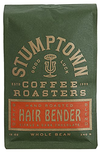 Stumptown Coffee Roasters Hair Bender Whole Bean Coffee, 12 Ounce Bag, Flavor Notes of Citrus and Dark Chocolate