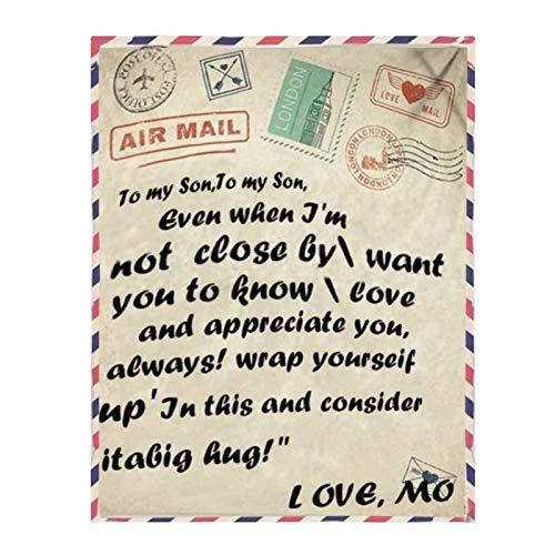 Ajeerd cobertor confortável, uma carta de mãe para filha/filho (cobertor) para My Dear Sweetheart, deixe que eles se sintam amor no inverno frio.