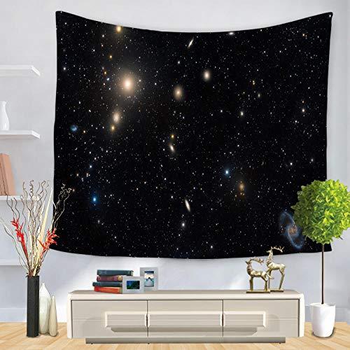 hylzs Cosmic Serie Sterne Tapisserie Sternenhimmel Stoff Wandbehang Test dekorative Polyesterfaser kann verwendet Werden Vorhang Tischdecke Yoga-Matte -9_200cmx150cm