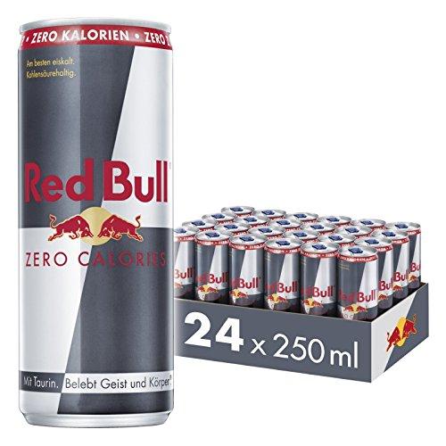 Red Bull Energy Drink Zero Calories, 24er Pack, EINWEG (24 x 250 ml)