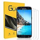 NONZERS Cristal Templado para Samsung Galaxy S7, [3 Unidades] 2.5d/9H Dureza Borde Redondo Vidrio Templado, [Funda Compatible] [No Burbujas] [fácil de Limpiar] HD Protector de Pantalla para Samsung S7
