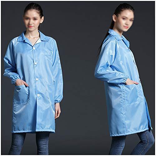 Dust-proof en anti-statische kleding Non - Disposable Overall Beschermende kleding Hood Beschermend Kostuum, lichtgewicht en stofvrij Conjoined Werkkleding,L