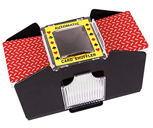 Battery Operated Automatic Card Shuffler, 4 Deck Card Shuffler for Home Card Games, Poker, Rummy, Blackjack