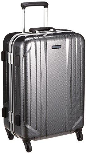 [ワールドトラベラー] スーツケース サグレス ストッパー付 50L 55 cm 4.3kg ブラックカーボン