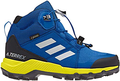 adidas Unisex-Kinder Terrex Mid GTX K Fitnessschuhe, Mehrfarbig (Belazu/Griuno/Amasho 000), 38 2/3 EU,5.5 UK