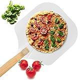 Pizzaschieber aus Aluminium für Pizzastein mit faltbarem Holzgriff, einfache...