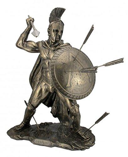 Veronese by Joh. Vogler GmbH Leonidas mit Schild und Speer König von Sparta Figur Feldherr Spartaner bronziert