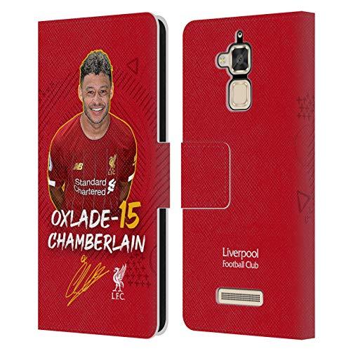 Head Case Designs Oficial Liverpool Football Club Alex Oxlade-Chamberlain 2019/20 Primer Equipo Grupo 1 Carcasa de Cuero Tipo Libro Compatible con Zenfone 3 MAX ZC520TL