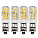 Bombilla LED regulable E14, luz blanca cálida, 3000 K, 230 V, 4 W, repuesto de 30 W, 40 W, bombillas halógenas Edison pequeñas para máquina de coser, lámpara de pie o lámpara de techo, 4 unidades
