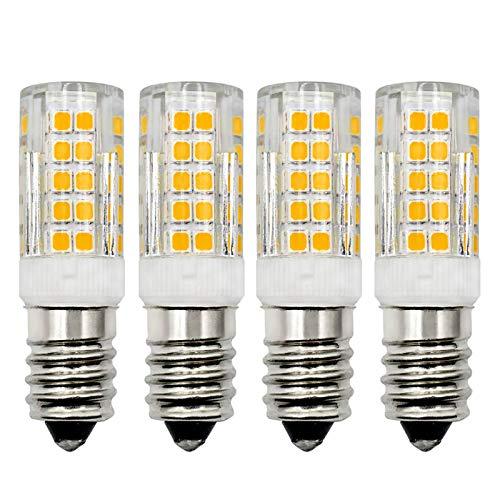 E14 LED Dimmbar Glühbirne Warmweiß 3000K 230V 4W Ersatz 30W 40W Kleine Edison-Halogenlampen für Kühlschranklampe/Nähmaschinen/Stehlampen/Deckeneinbaulampe, 4 Stück [MEHRWEG]
