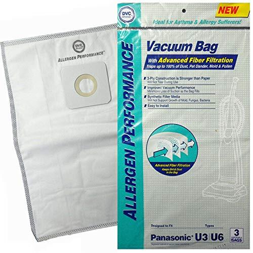 DVC Panasonic Style U U3 U6 - Bolsas de aspiradora (sintéticas, Hepa, 27 bolsas)