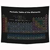 SVBright Periodic Table of Elements Tapestry 51Hx59W Inch High School Supplies Student Teaching Chemistry Science Lover Education Art Wall Hanging Bedroom Living Room Dorm Decor Fabric
